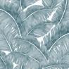 """Totem"" Tissu enduit bleu pour nappe Thevenon"
