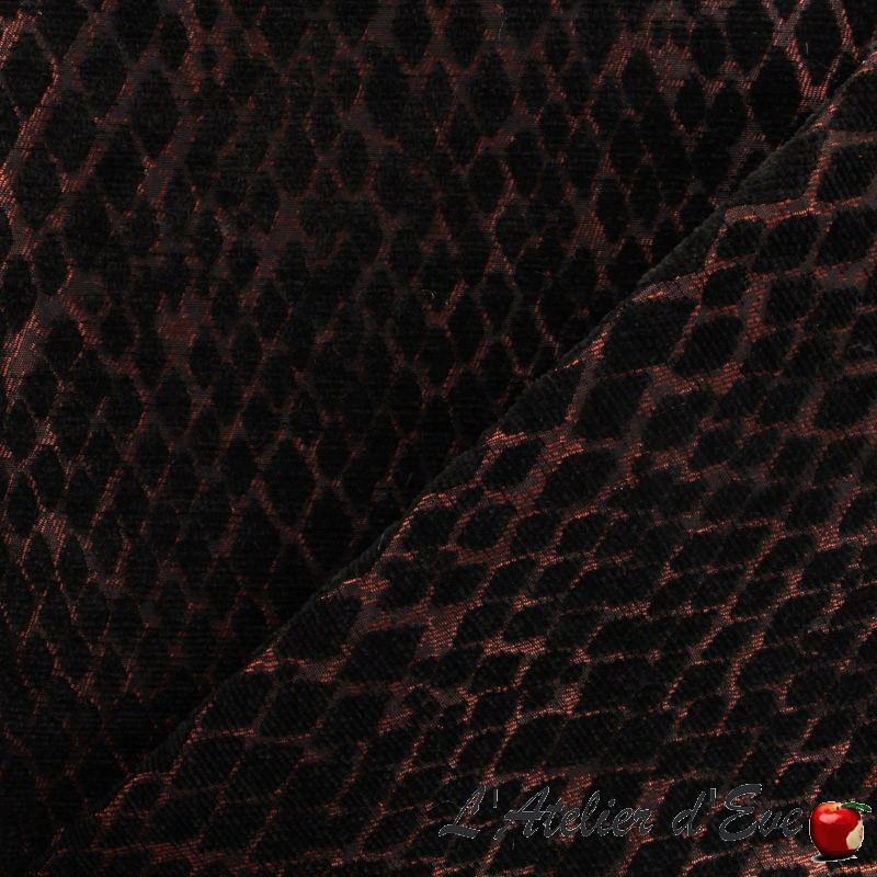 """Serpenti"" Tissu rouge ameublement jacquard Thevenon"