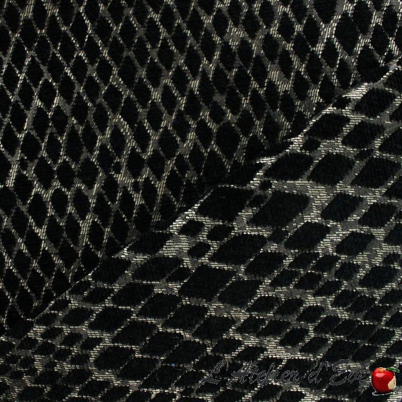 Rideau noir à oeillets sur mesure Serpenti de Thevenon