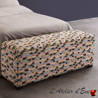 """Tino"" Trunk pouf finishes Rolls Thevenon"