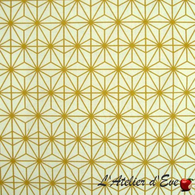 """Soleil d'orient"" Nappe enduite Made in France Thevenon"