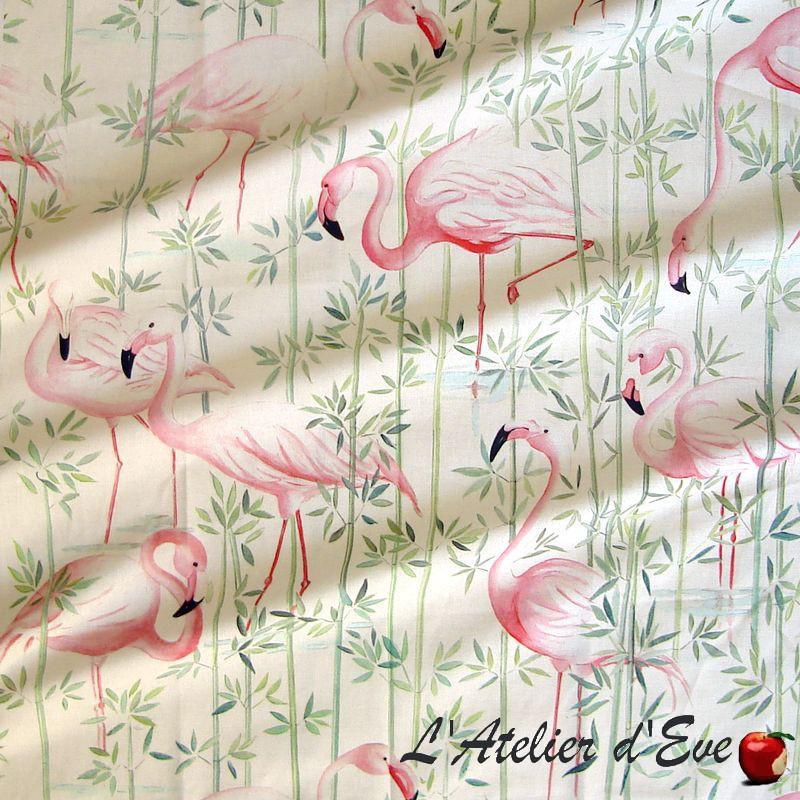 """""""Flamingo"""" Tissu enduit nappe Thevenon"""