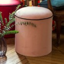 """""""Sweet love"""" Round pouffe with piping Thevenon"""