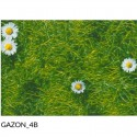 """Canvas transat"" by meter Bachette printed cotton grass L.43cm"