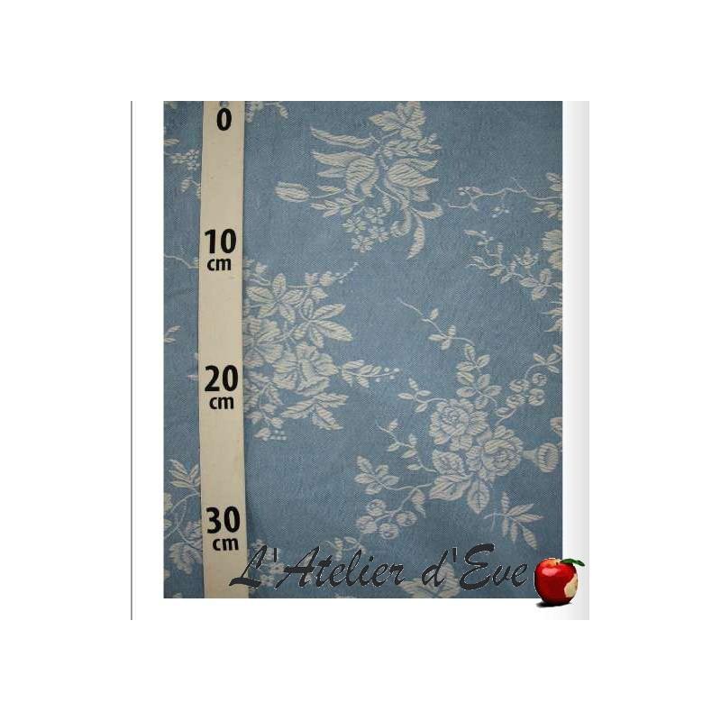 Toile matelas ou sommier coton grande largeur 240cm bleu