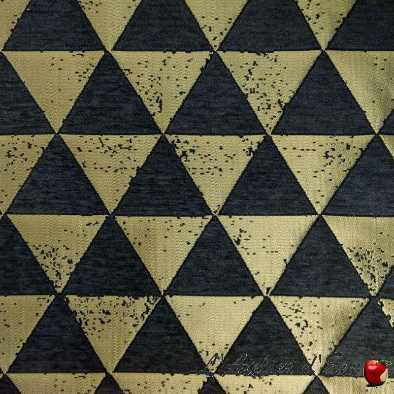 Giorgio Tissu jacquard noir Thevenon