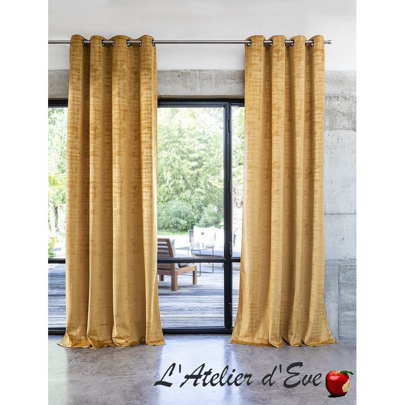 """Milano"" Rideau oeillets Made in France velours Thevenon"