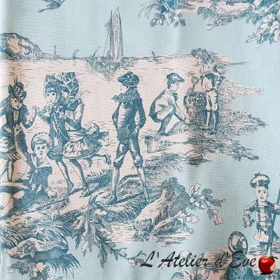 """""""Histoire d'eau"""" Coupon toile de jouy Thevenon"""