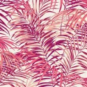 "- ""Palm Springs"" rose Coupon 75x260cm tissu ameublement Thevenon"