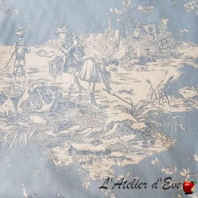 """""""Histoire d'eau"""" Coupon 70x280cm toile de jouy Thevenon"""