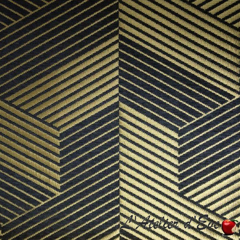 Rideau or design Gianfranco tissu jacquard Thevenon