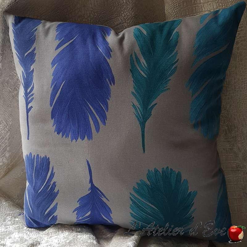 Coussin Made in France tissu ameublement Thevenon Nouveau Monde