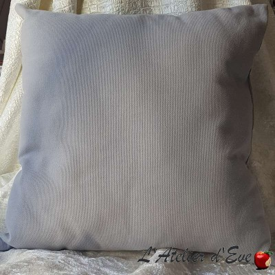 Coussin Made in France tissu ameublement Thevenon Chalala gris