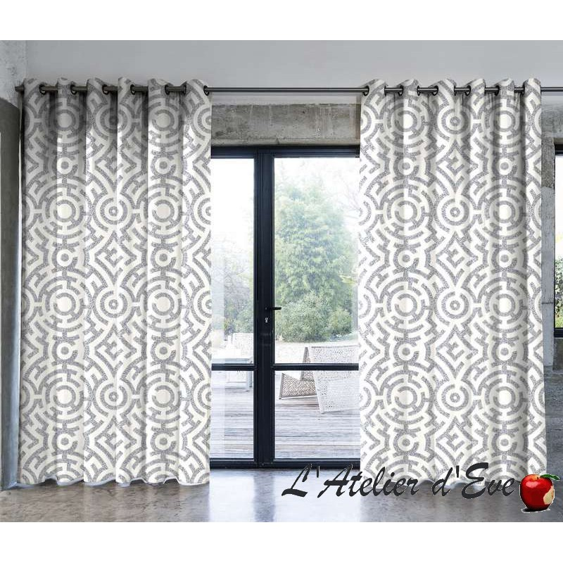 labirinto rideau 100 coton made in france thevenon. Black Bedroom Furniture Sets. Home Design Ideas