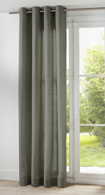 rideau 100 lin sur mesure lin lav de thevenon paris. Black Bedroom Furniture Sets. Home Design Ideas