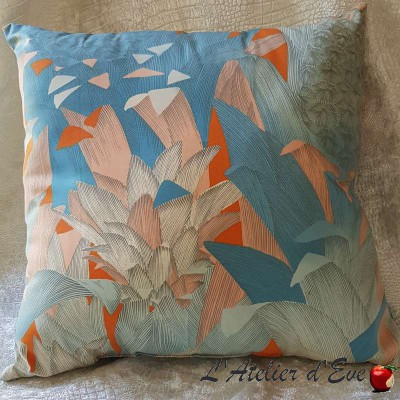 Coussin Made in France tissu ameublement Thevenon Tropical Klang
