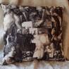 Coussin Toile de Jouy Made in France tissu Thevenon Puzzle