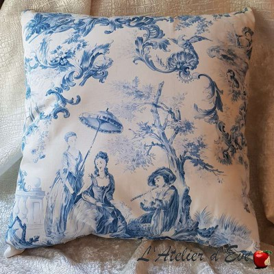 Cushion Made in France floral velvet fabric