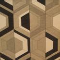 """""""Double vue"""" noir Coupon 100x140cm tissu ameublement Thevenon"""