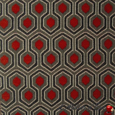 """Optimo"" terraccota Coupon 150x140cm fabric upholstery Thevenon"