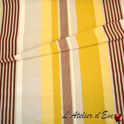 """Othello"" jaune Coupon 130x130cm tissu ameublement Thevenon"