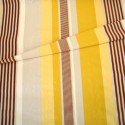 """- """"Othello"""" jaune Coupon 130x130cm tissu ameublement Thevenon"""