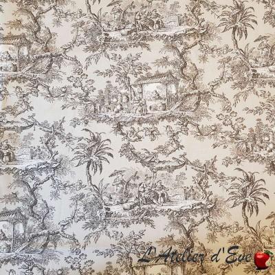 """""""Monceau"""" Coupon 135x250cm toile de jouy Thevenon"""