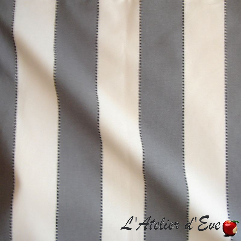 Armand - coupon tissu ameublement bachette coton rayure Thevenon