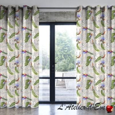 """Wonderful garden"" curtain Made in France cotton Thévenon"