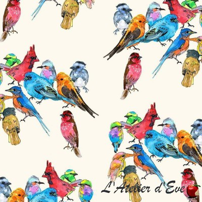 """All at the theater"" Thevenon cotton child fabric"