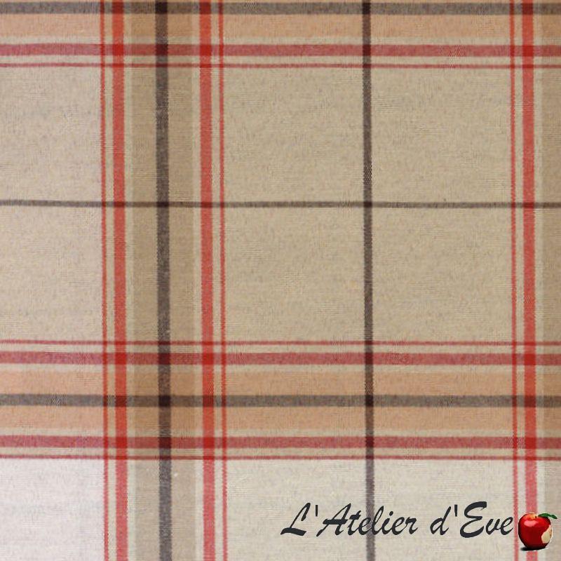 """Glascow"" beige Tissu écossais grande largeur"