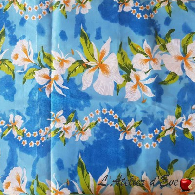 """Tahiti"" Coupon clothing and upholstery fabric 90x250cm"