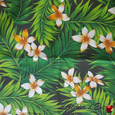 """""""Tahiti"""" Coupon clothing and upholstery fabric 90x250cm"""