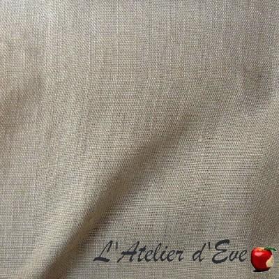 """""""Lin lavé"""" perle Coupon 140x240cm tissu ameublement Thevenon"""