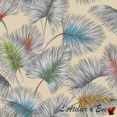 """Palmy"" lin Remise 30% Rouleau tissu Thevenon"