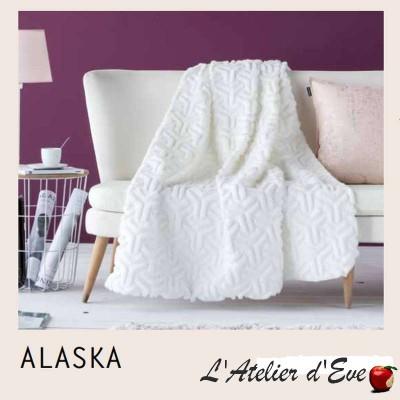 """Alaska"" Plaid blanc 130x170cm Antilo"