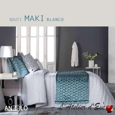"""""""Maki"""" blanc Couvre-lit + housses de coussin Antilo"""