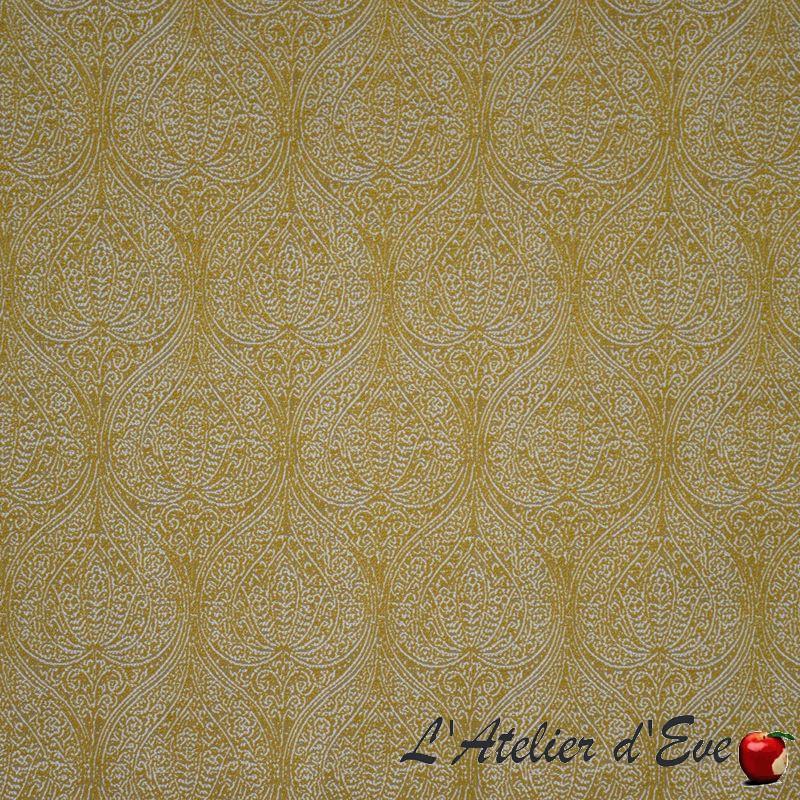 """""""Falena"""" Tissu jaune fantaisie baroque Casal"""