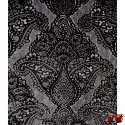 """Sultan gris"" Coupon 90x65cm tissu ameublement Thevenon"