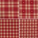 Morzine (5 coloris) Tissu ameublement carreaux grande largeur