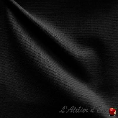 """Bacheto"" black Fireproof fabric M1 washable wide width"