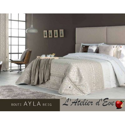 """""""Ayla"""" beige Couvre-lit + housses de coussin Antilo"""