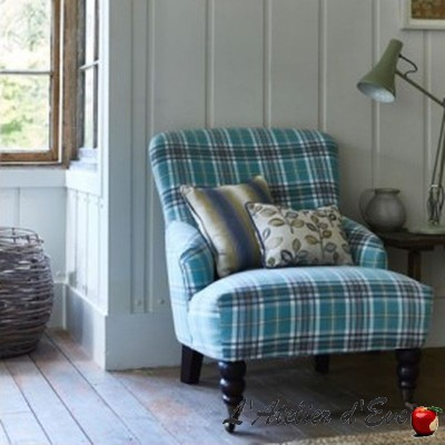 """Stroud"" Tissu écossais violet / heather Prestigious Textiles"