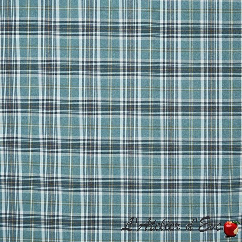 """Stroud"" Tissu écossais bleu / breeze Prestigious Textiles"