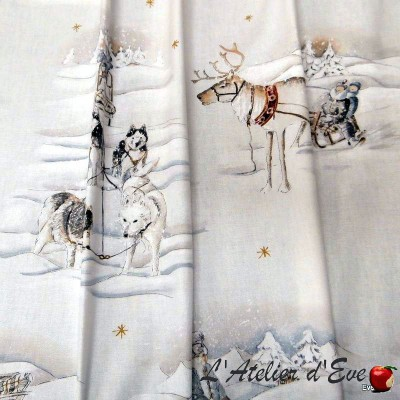 """Sleigh rides"" Coupon 120x280cm Thevenon furnishing fabric"