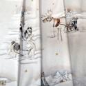 """Balades en traineau"" Coupon 120x280cm tissu ameublement Thevenon"