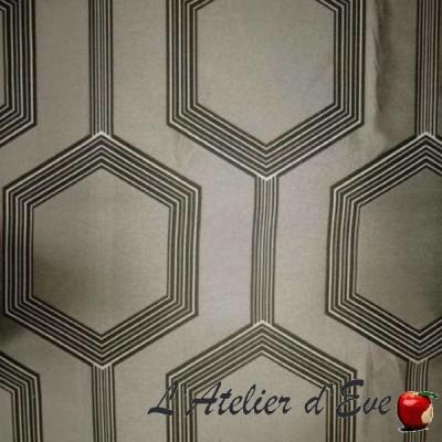 """Héxagone"" ficelle Coupon 170x280cm tissu ameublement Thevenon"