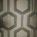 """Hexagon"" string Coupon 170x280cm fabric furniture Thévenon"