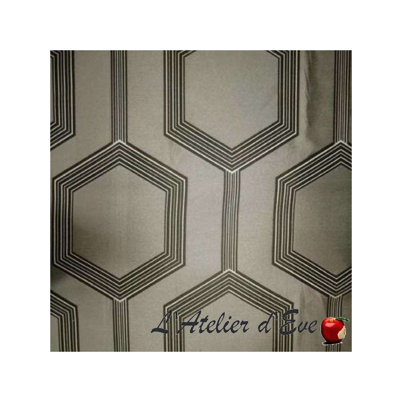 """Hexagone"" ficelle Coupon 170x280cm tissu ameublement Thevenon"