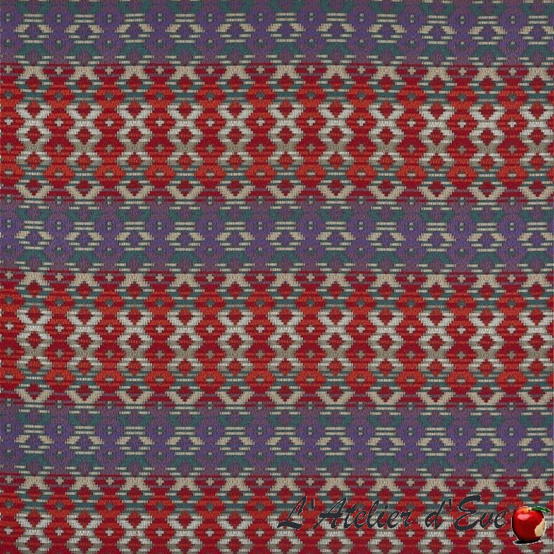 """Zebedee"" Tissu loganberry graphique Prestigious Textiles"